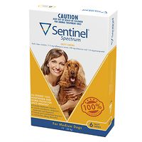 Sentinel Spectrum Chews Medium Dogs - Yellow 6pk